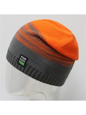 Шапка ELFRIO. Цвет: темно-серый, оранжевый