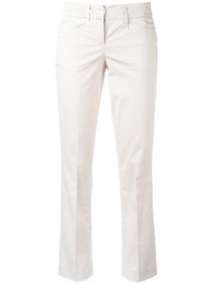 Укороченные расклешенные брюки Dondup. Цвет: телесный