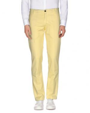 Повседневные брюки BETWOIN. Цвет: желтый