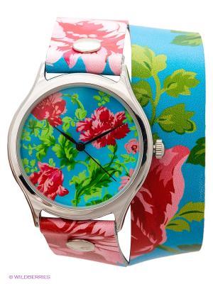 Часы DenisMart. Цвет: бирюзовый, красный, розовый