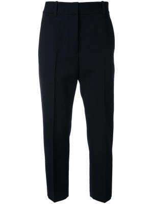 Строгие брюки Jil Sander. Цвет: синий