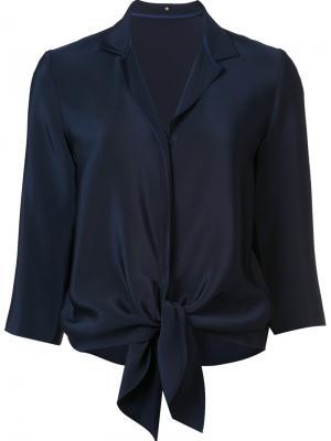 Блузка с подолом на завязках Peter Cohen. Цвет: синий