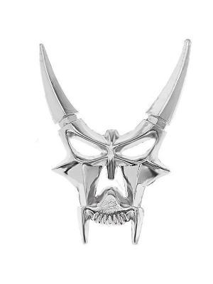Наклейка 3D Демон серебряный WIIIX. Цвет: серебристый
