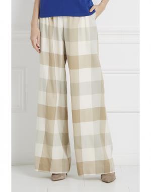 Шерстяные брюки Temperley London. Цвет: бежевый