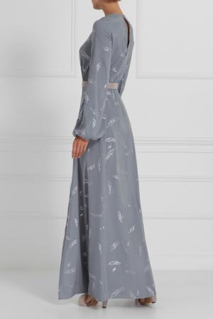 Шелковое платье в пол A LA RUSSE 6761487