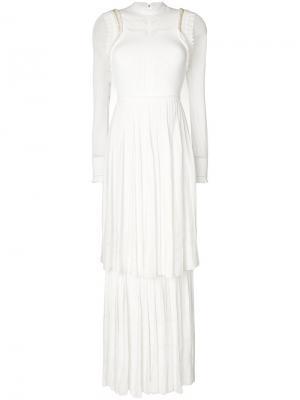 Длинное трикотажное платье Roberto Cavalli. Цвет: белый