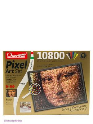 Пиксельная мозаика  серии Арт Джоконда. Quercetti. Цвет: красный, желтый, белый, черный