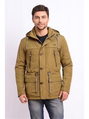 Куртка TAIS. Цвет: горчичный