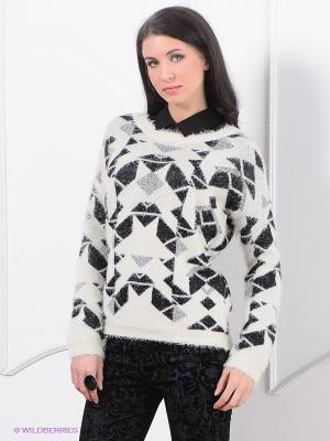 Джемпер Vero moda. Цвет: молочный, черный