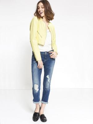 Куртка Motivi. Цвет: желтый