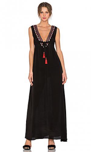 Макси платье cathy Karina Grimaldi. Цвет: черный