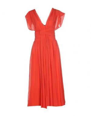 Платье длиной 3/4 FUZZI. Цвет: красный