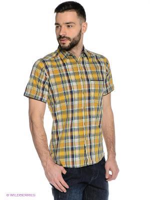 Рубашка Mavango. Цвет: горчичный, зеленый, темно-синий