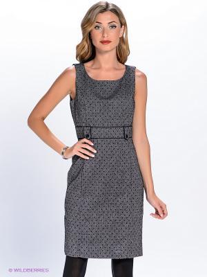 Платье QUIOSQUE. Цвет: черный, светло-серый