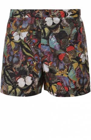 Плавки-шорты с принтом и карманами Valentino. Цвет: разноцветный