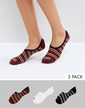 Vans Набор из 3 пар незаметных носков. Цвет: мульти