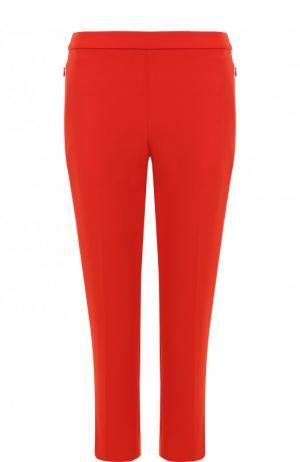 Однотонные укороченные брюки со стрелками Theory. Цвет: красный