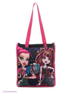 Сумка для покупок/дополнительных занятий Monster High Centrum. Цвет: черный, розовый