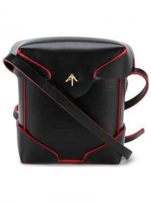 Микро сумка на плечо Pristine Manu Atelier. Цвет: чёрный
