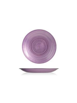 Набор десертных тарелок лиловых H&H. Цвет: лиловый