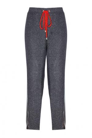 Шерстяные брюки VIKTORIA IRBAIEVA. Цвет: серый