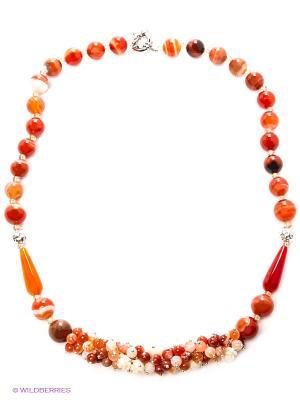 Колье Migura. Цвет: оранжевый
