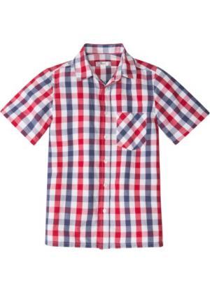 Рубашка в клетку (синий/красный клетку) bonprix. Цвет: синий/красный в клетку
