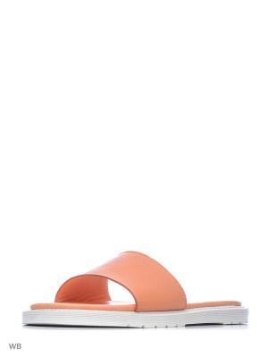 Шлепанцы Dr.Martens. Цвет: оранжевый
