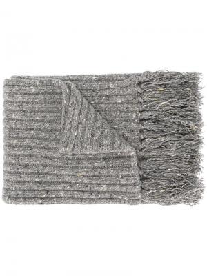 Трикотажный шарф Marc Jacobs. Цвет: серый