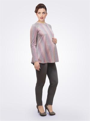 Блузка Budumamoy. Цвет: розовый, серый, сиреневый