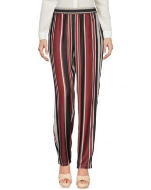Повседневные брюки GOTHAINPRIMIS. Цвет: красно-коричневый