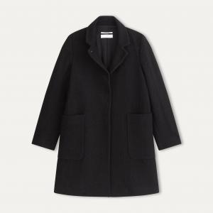 Пальто длинное POMANDERE. Цвет: черный