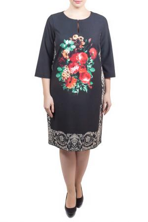 Свободное платье с принтом Piena. Цвет: черный, хлопок