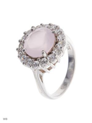 Кольцо Митра Ювелир. Цвет: розовый, серебристый