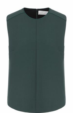 Топ прямого кроя без рукавов Victoria by Beckham. Цвет: зеленый