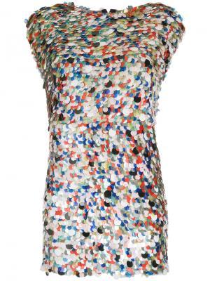 Мини-платье с пайетками Zambesi. Цвет: многоцветный