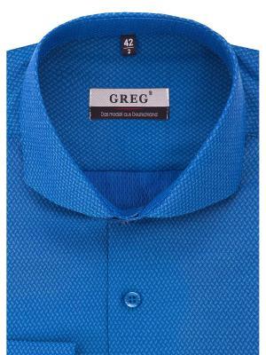 Рубашка GREG. Цвет: бирюзовый, синий