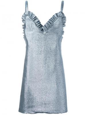 Структурированное платье Jacquemus. Цвет: синий