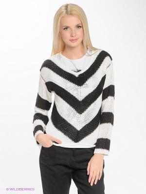 Пуловер Blue Seven. Цвет: белый, черный