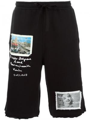 Спортивные шорты с заплатками Blood Brother. Цвет: чёрный