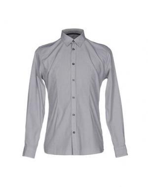 Pубашка DANIELE ALESSANDRINI HOMME. Цвет: серый