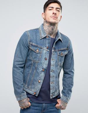 Nudie Jeans Джинсовая куртка Co Billy. Цвет: синий