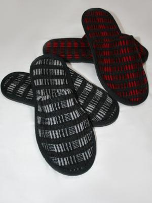 Тапочки домашние-2 пары Ярославская Мануфактура. Цвет: темно-серый, красный