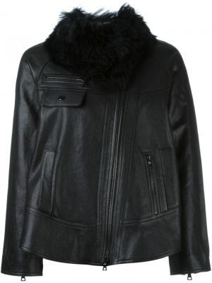Куртка с меховым воротником Proenza Schouler. Цвет: чёрный