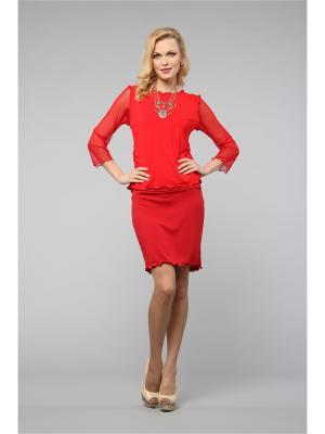 Блузка KATA BINSKA. Цвет: красный