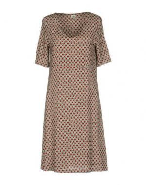 Платье до колена SIYU. Цвет: красно-коричневый