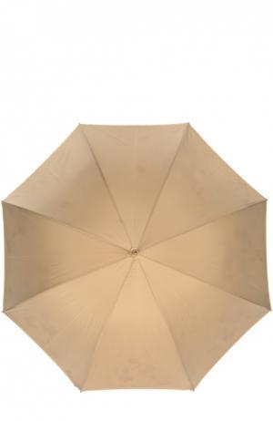 Зонт с принтованной подкладкой Pasotti Ombrelli. Цвет: бежевый