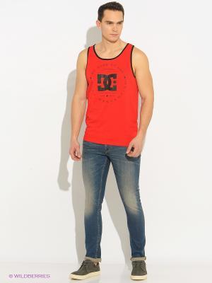Майка DC Shoes. Цвет: красный