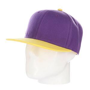 Бейсболка True Spin Tone Blank Snapback Lala TrueSpin. Цвет: желтый,фиолетовый