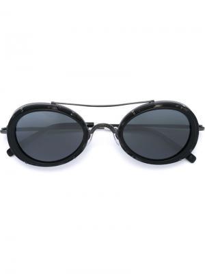 Солнцезащитные очки M2871 Matsuda. Цвет: чёрный